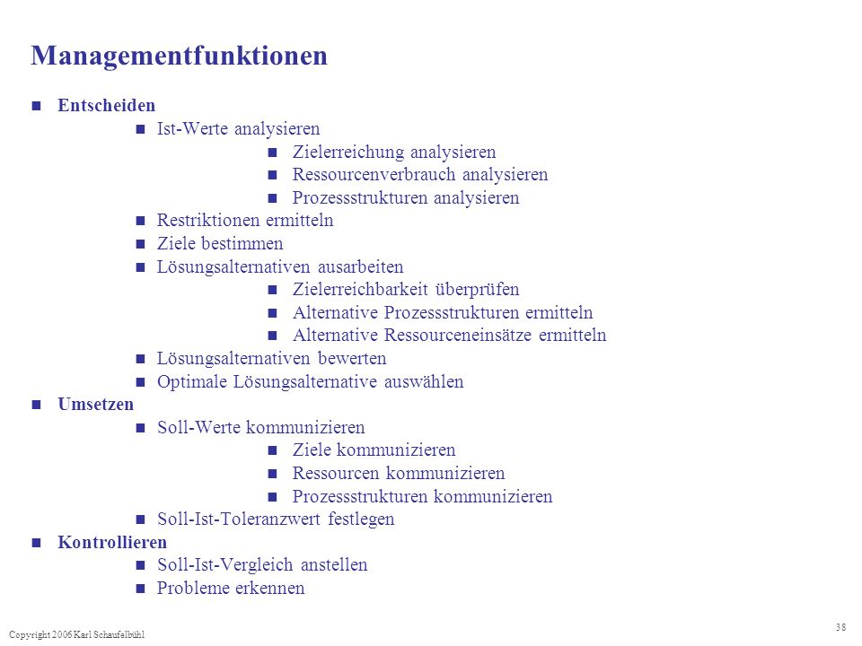 Managementfunktionen