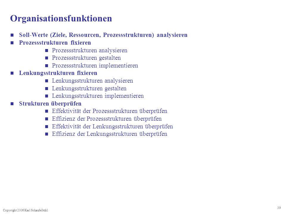 Organisationsfunktionen
