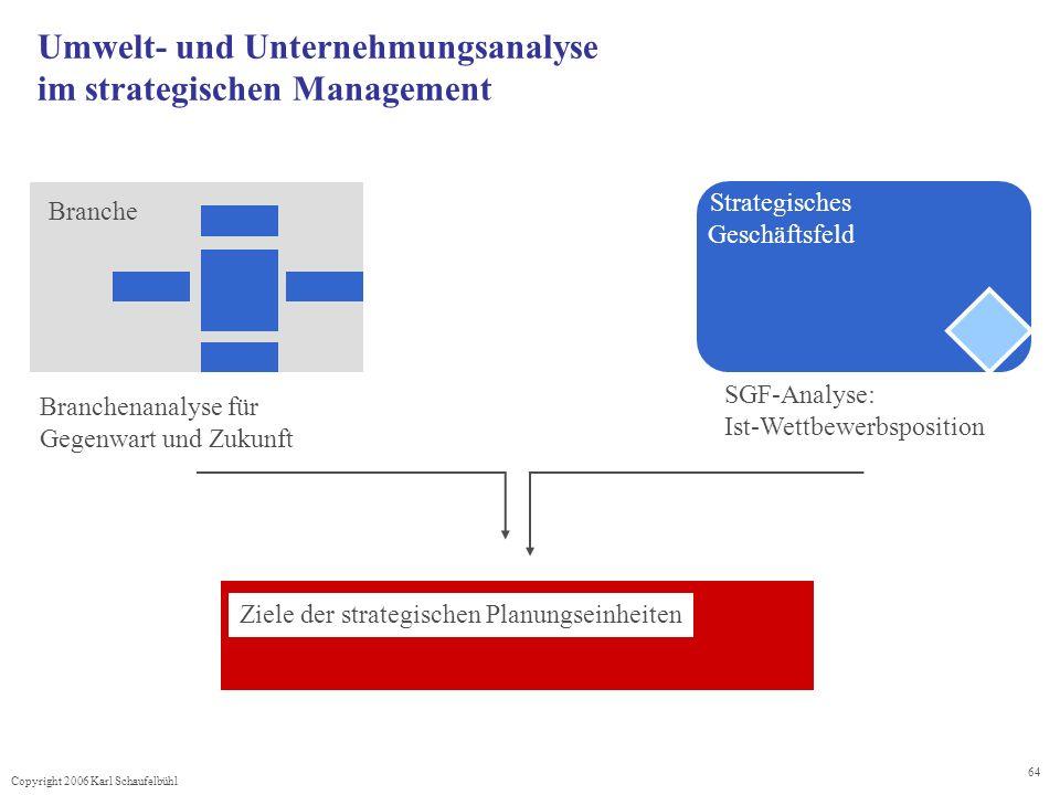 Umwelt- und Unternehmungsanalyse im strategischen Management