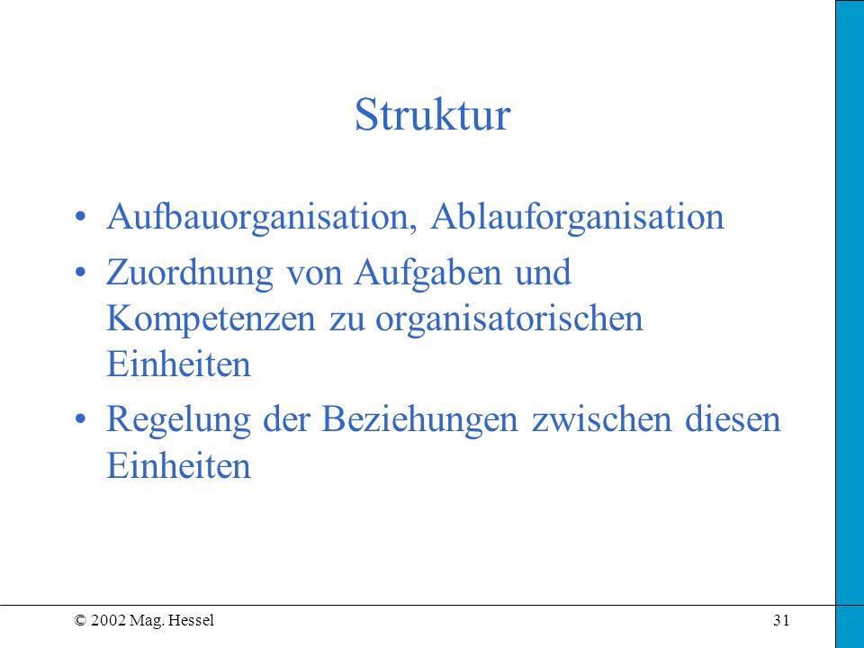 Struktur Aufbauorganisation, Ablauforganisation