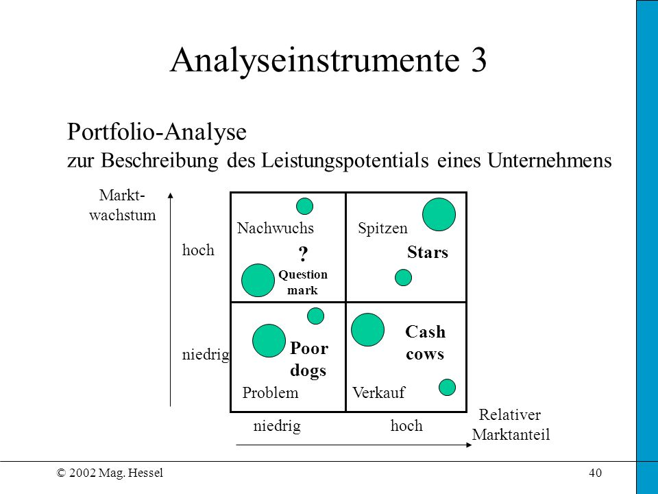 Analyseinstrumente 3 Portfolio-Analyse