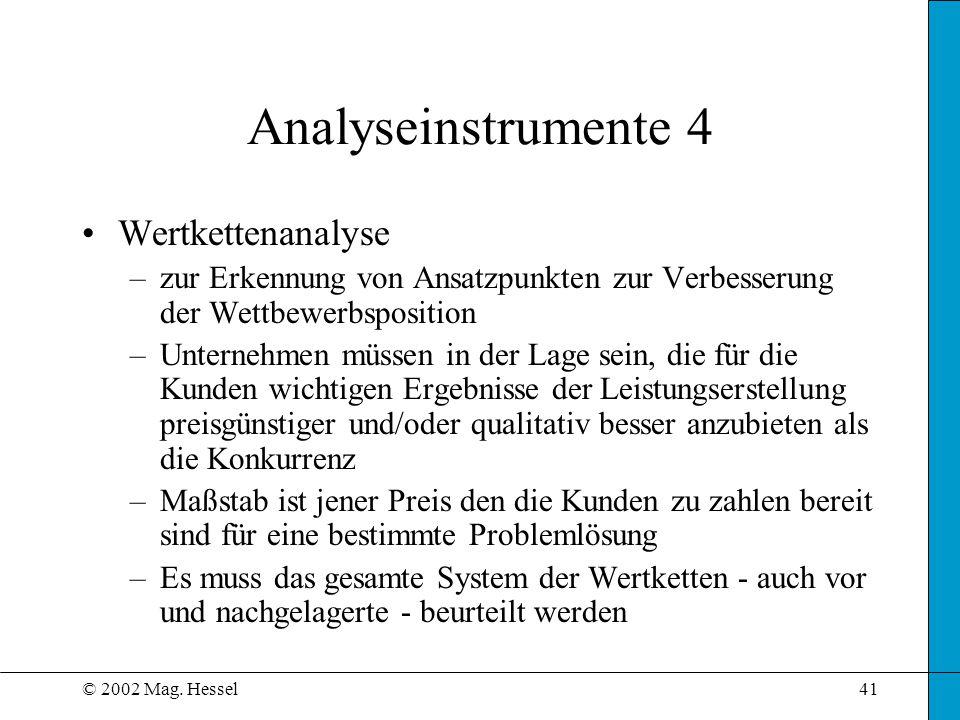 Analyseinstrumente 4 Wertkettenanalyse