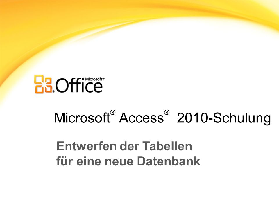 Microsoft® Access® 2010-Schulung
