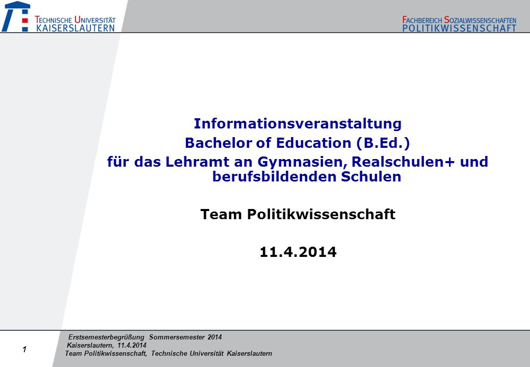 Informationsveranstaltung Bachelor of Education (B.Ed.)