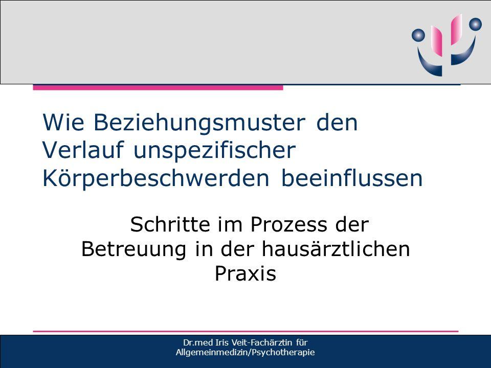 Schritte im Prozess der Betreuung in der hausärztlichen Praxis