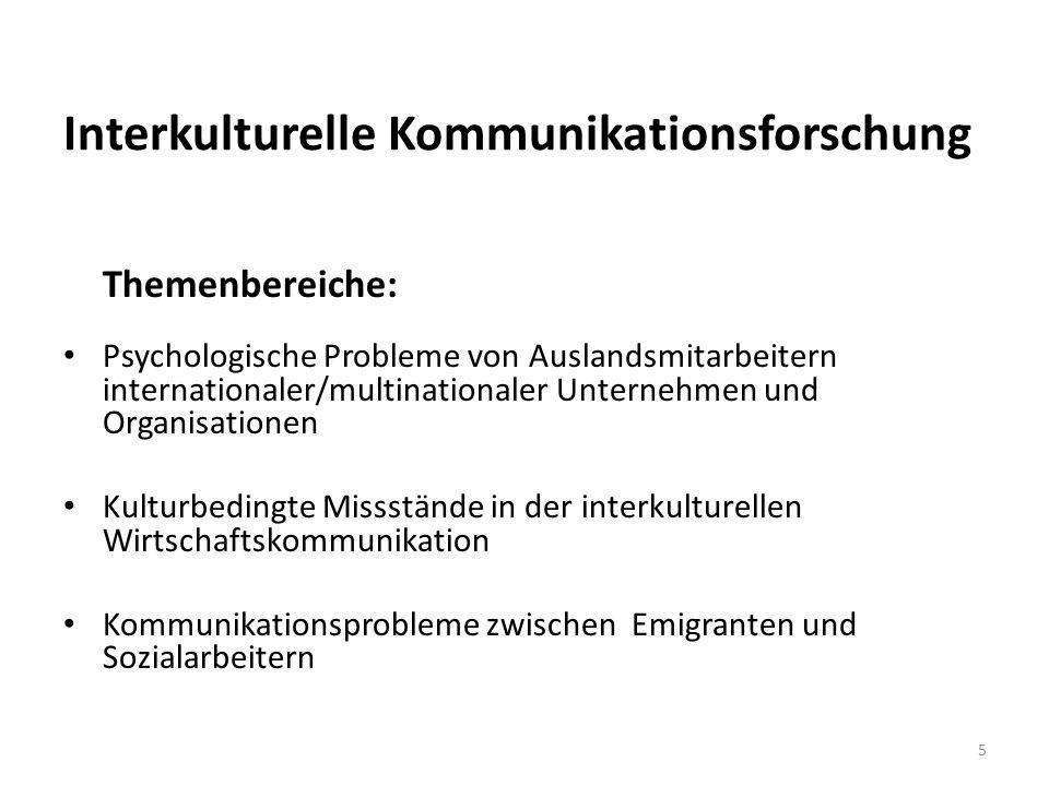 Interkulturelle Kommunikationsforschung