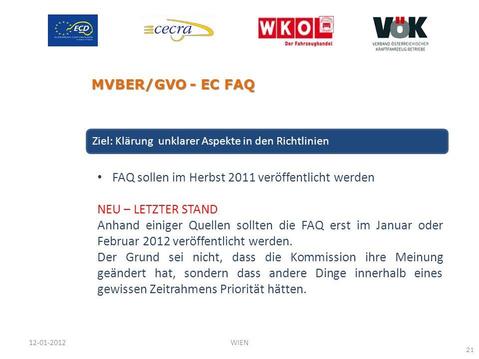 FAQ sollen im Herbst 2011 veröffentlicht werden NEU – LETZTER STAND