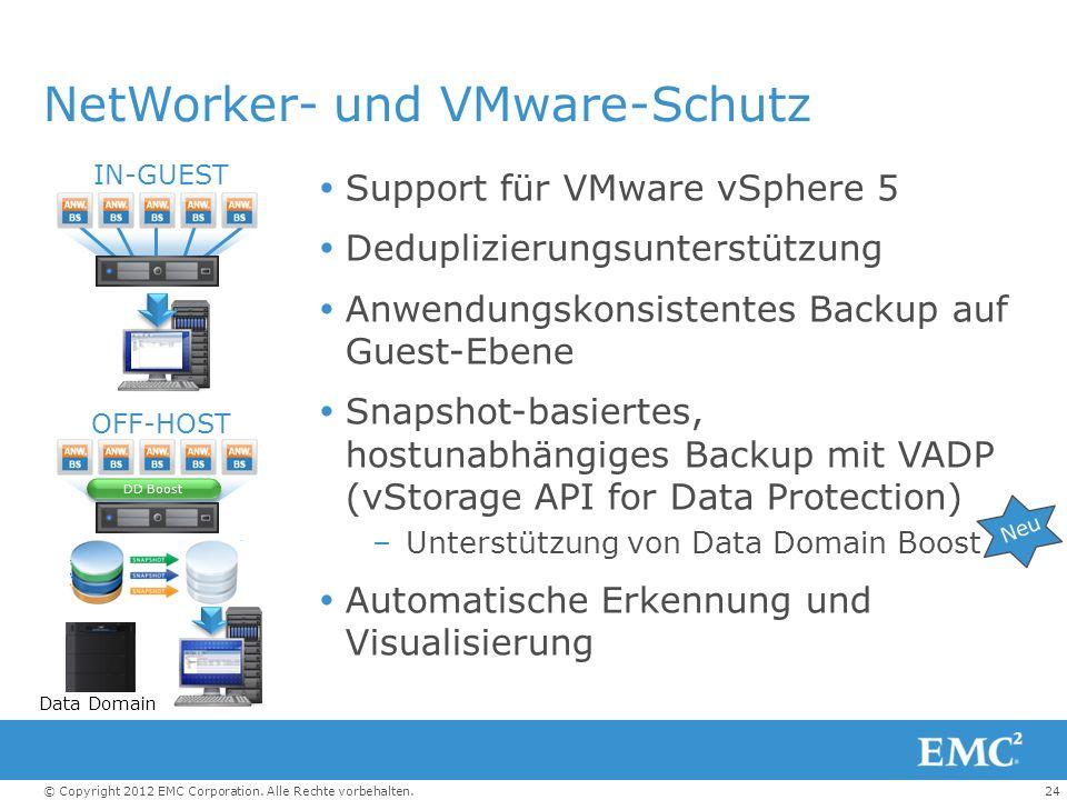 NetWorker- und VMware-Schutz