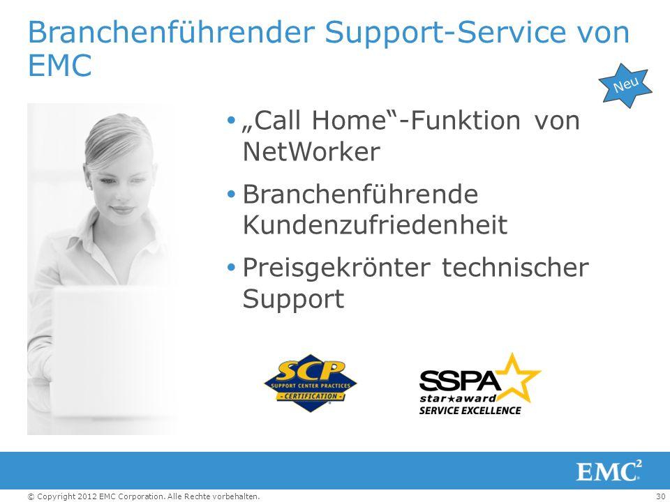Branchenführender Support-Service von EMC