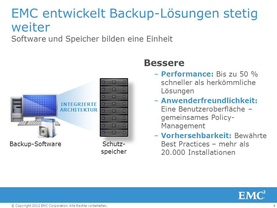 EMC entwickelt Backup-Lösungen stetig weiter