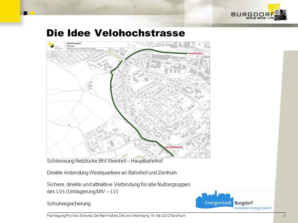 Die Idee Velohochstrasse