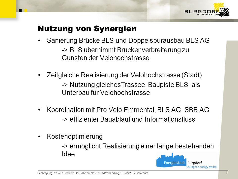 Nutzung von Synergien Sanierung Brücke BLS und Doppelspurausbau BLS AG