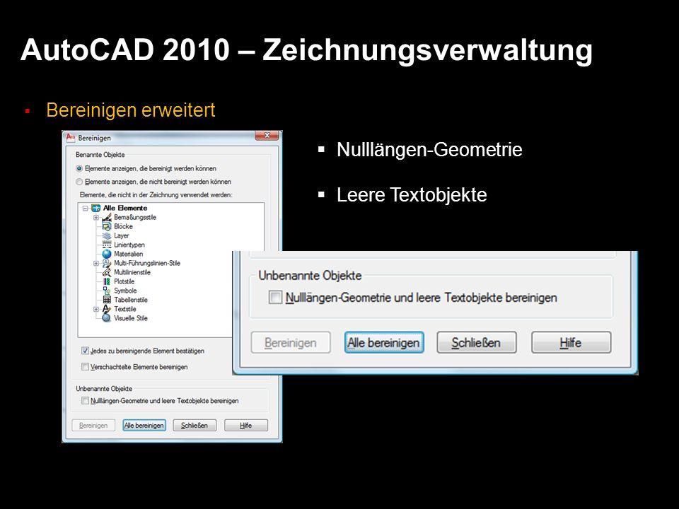 AutoCAD 2010 – Zeichnungsverwaltung