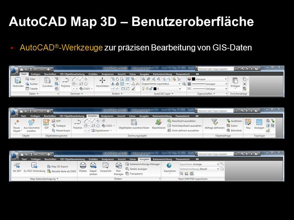 AutoCAD Map 3D – Benutzeroberfläche