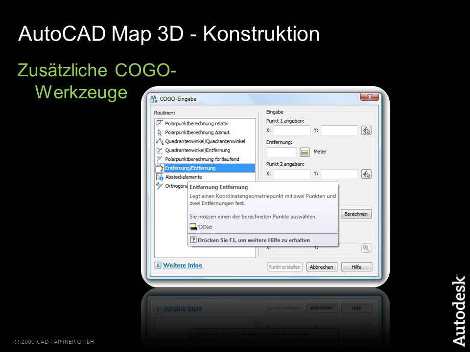 AutoCAD Map 3D - Konstruktion