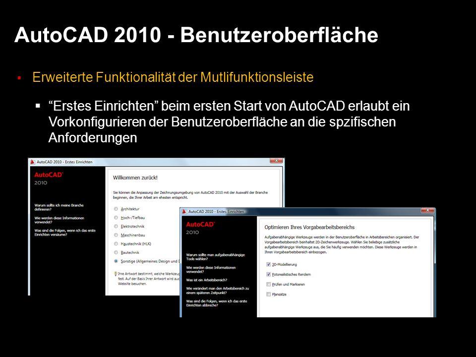 AutoCAD 2010 - Benutzeroberfläche