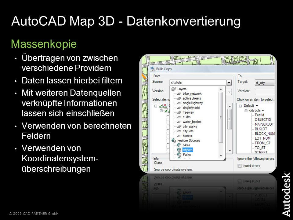 AutoCAD Map 3D - Datenkonvertierung