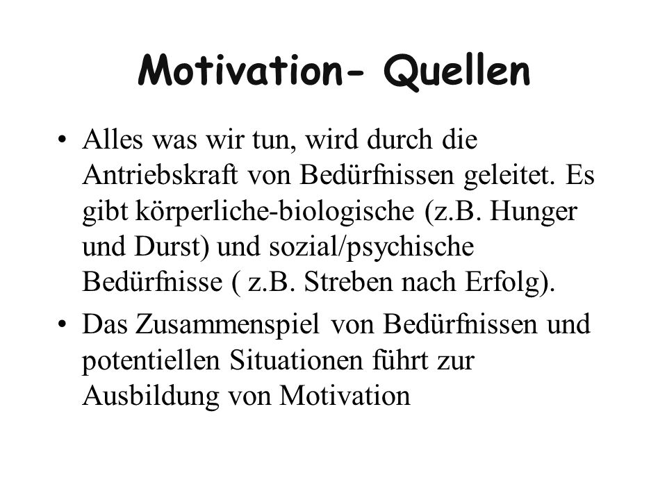 Motivation- Quellen