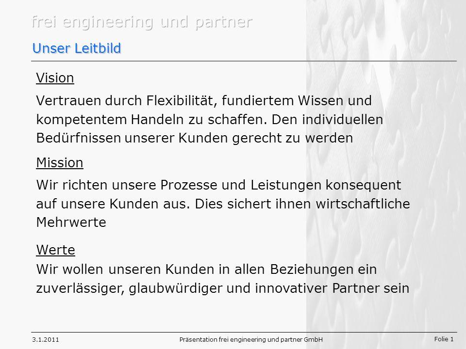 Präsentation frei engineering und partner GmbH