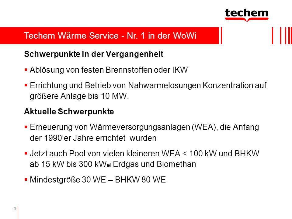 Techem Wärme Service - Nr. 1 in der WoWi