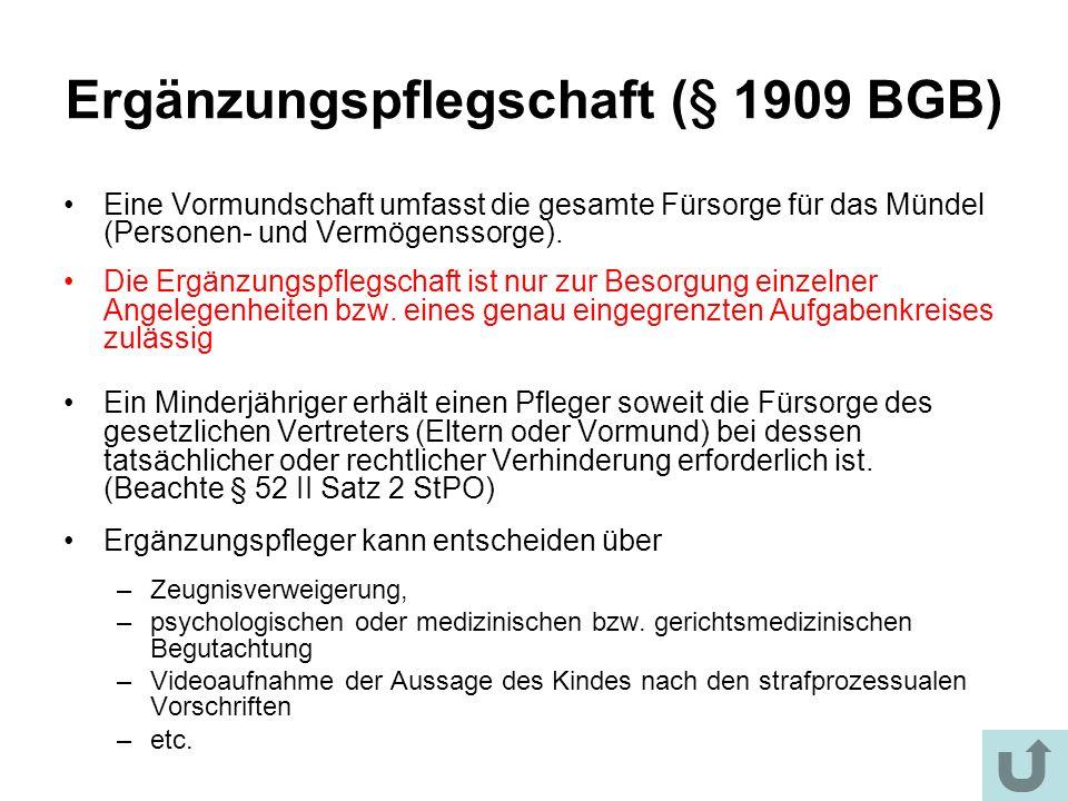 Ergänzungspflegschaft (§ 1909 BGB)