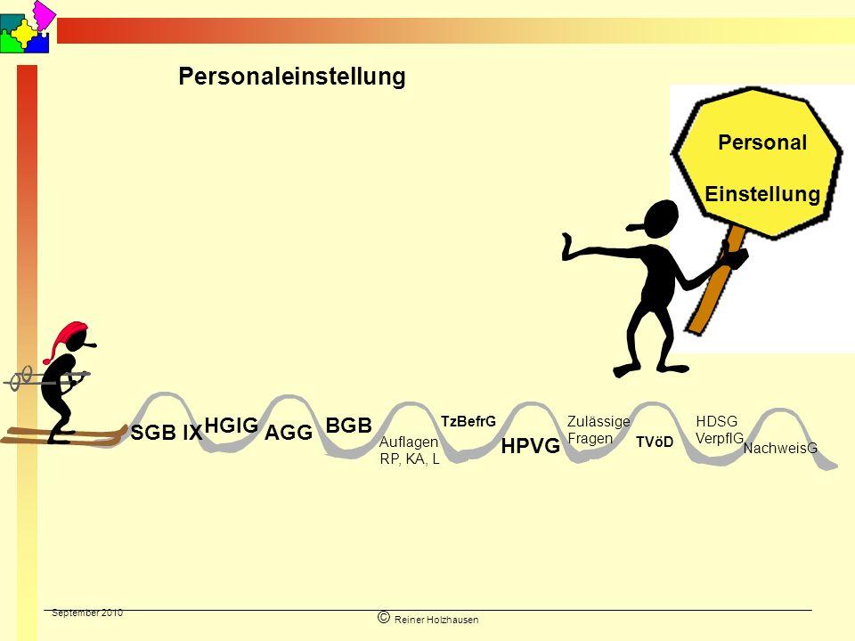 Personaleinstellung Personal Einstellung HGlG BGB SGB IX AGG HPVG