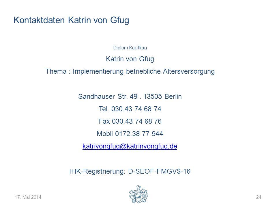 Kontaktdaten Katrin von Gfug