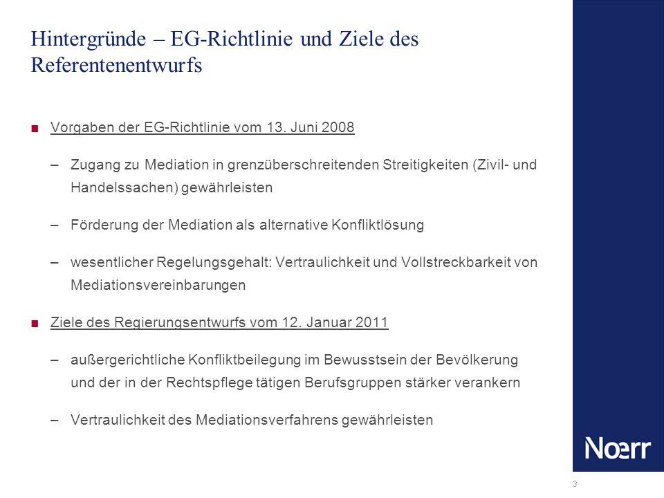 Hintergründe – EG-Richtlinie und Ziele des Referentenentwurfs