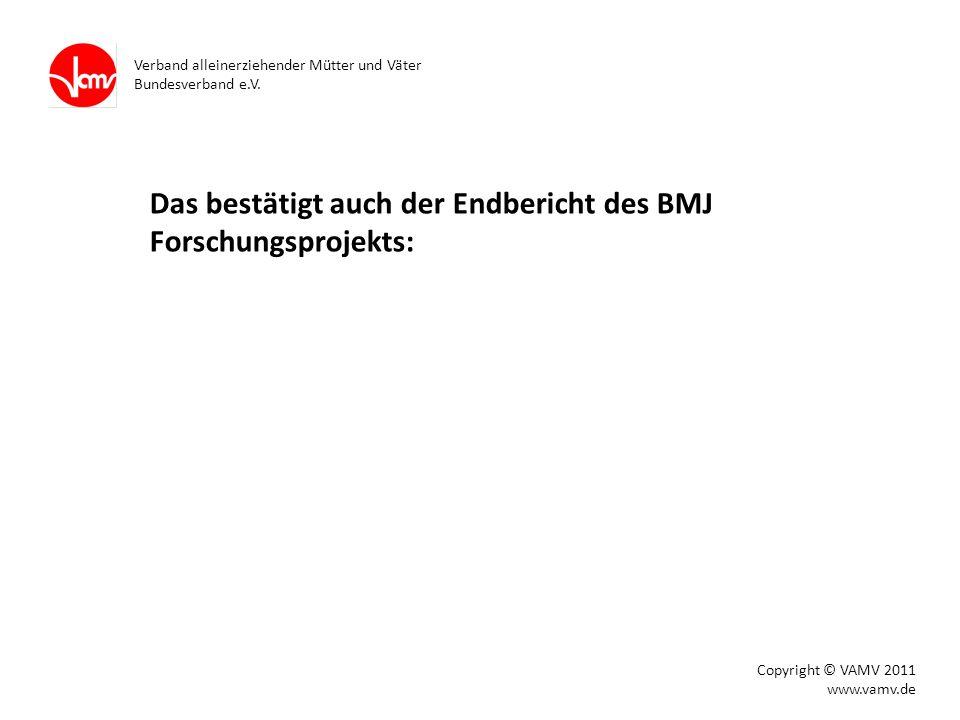 Das bestätigt auch der Endbericht des BMJ Forschungsprojekts: