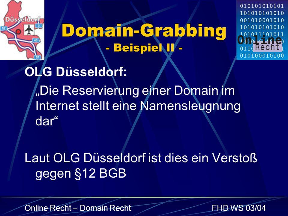 Domain-Grabbing - Beispiel II -