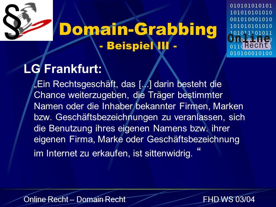 Domain-Grabbing - Beispiel III -