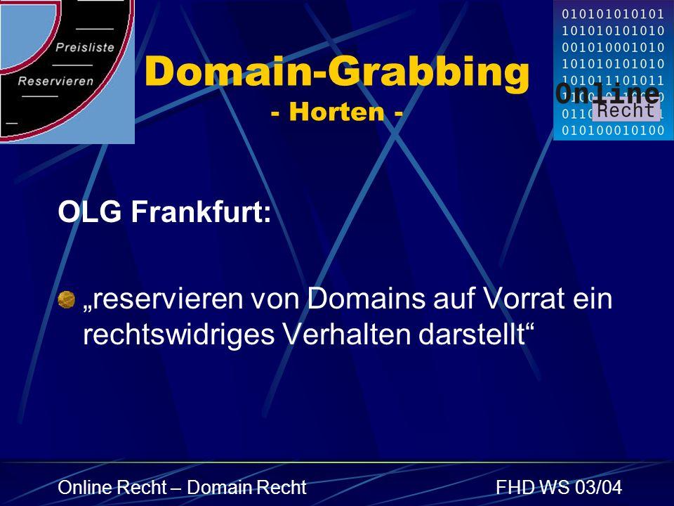 Domain-Grabbing - Horten -