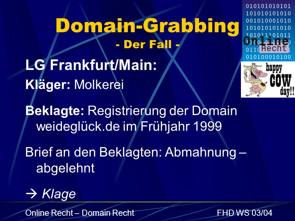 Domain-Grabbing - Der Fall -