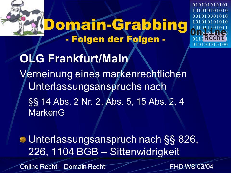 Domain-Grabbing - Folgen der Folgen -