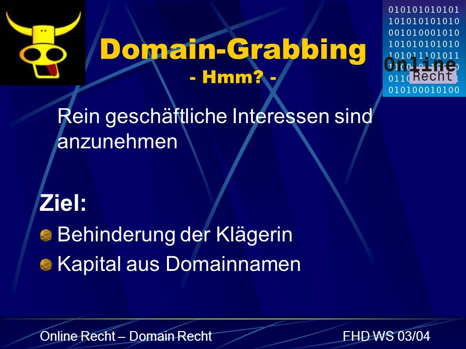 Domain-Grabbing - Hmm -