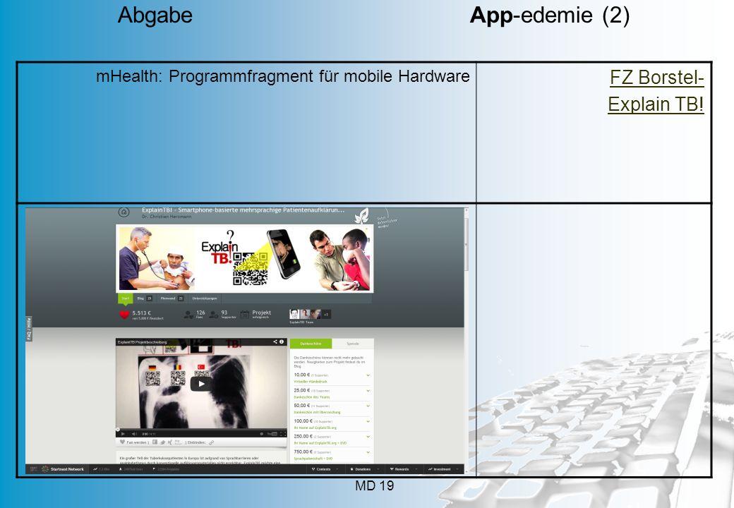 Abgabe App-edemie (2) FZ Borstel- Explain TB! App geht's