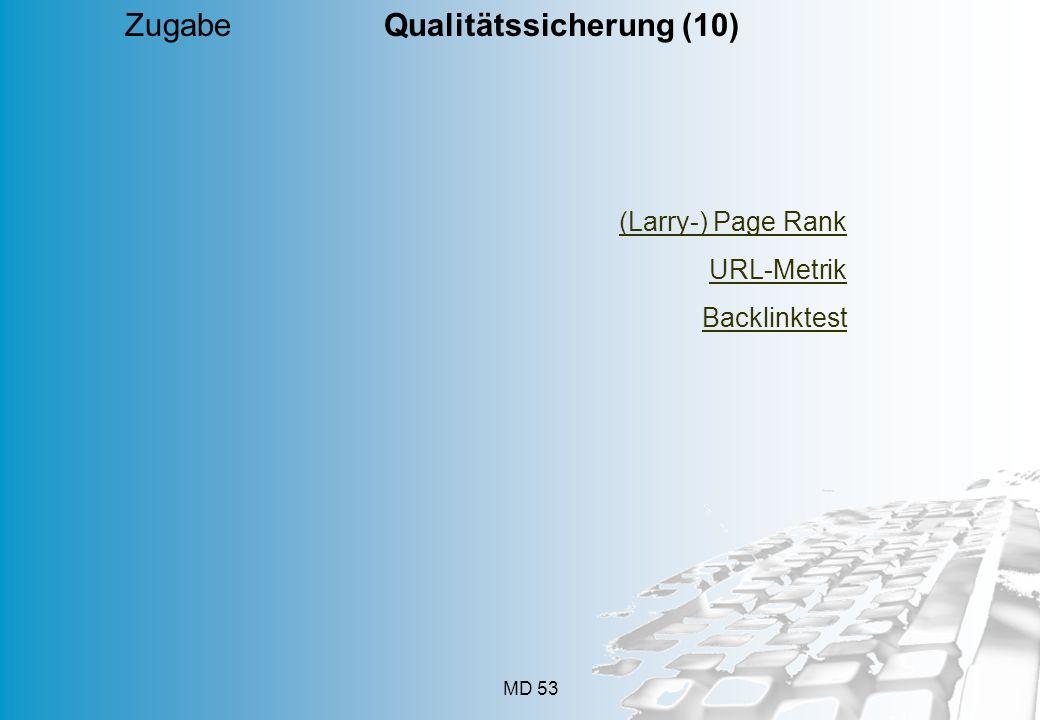 Zugabe Qualitätssicherung (10)