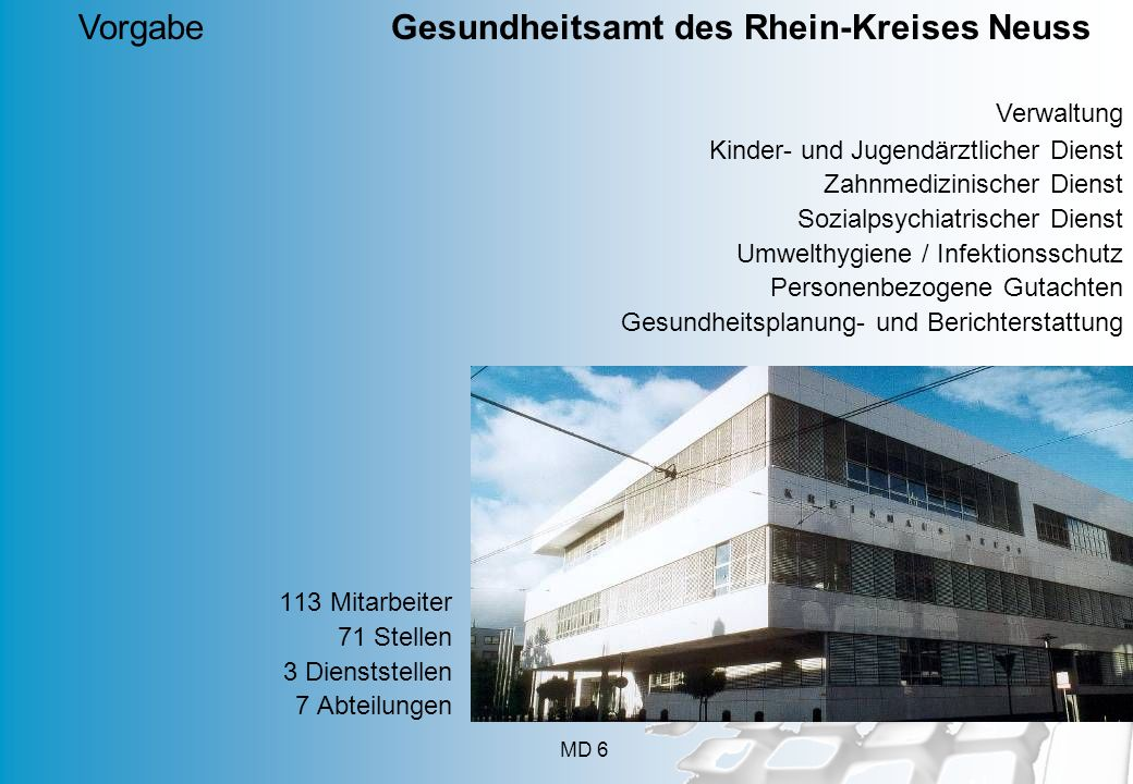 Vorgabe Gesundheitsamt des Rhein-Kreises Neuss