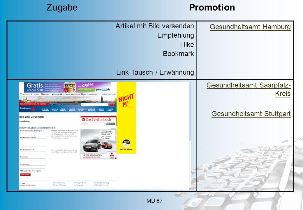 Zugabe Promotion Artikel mit Bild versenden Empfehlung I like Bookmark