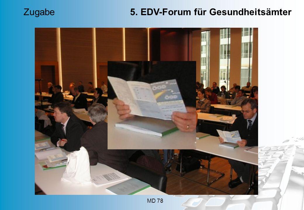 25. März 2014 Düsseldorf Zugabe 5. EDV-Forum für Gesundheitsämter