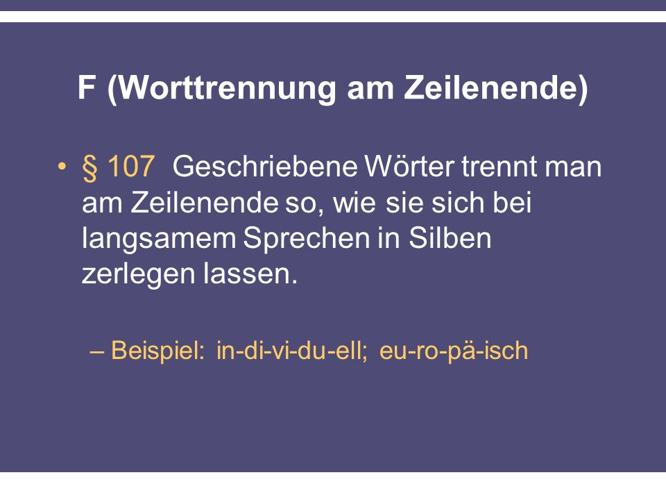 F (Worttrennung am Zeilenende)