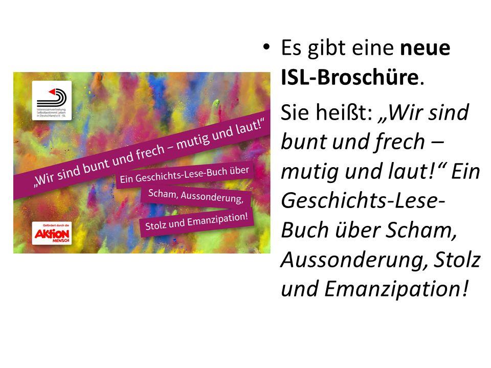 Es gibt eine neue ISL-Broschüre.