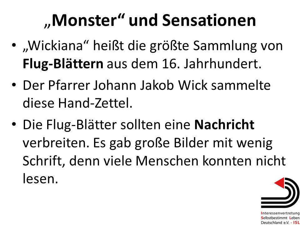 """Monster und Sensationen"