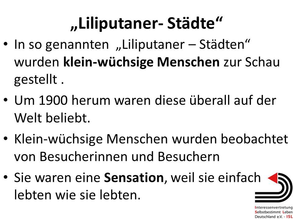 """""""Liliputaner- Städte"""