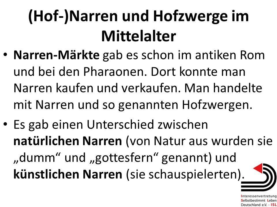 (Hof-)Narren und Hofzwerge im Mittelalter