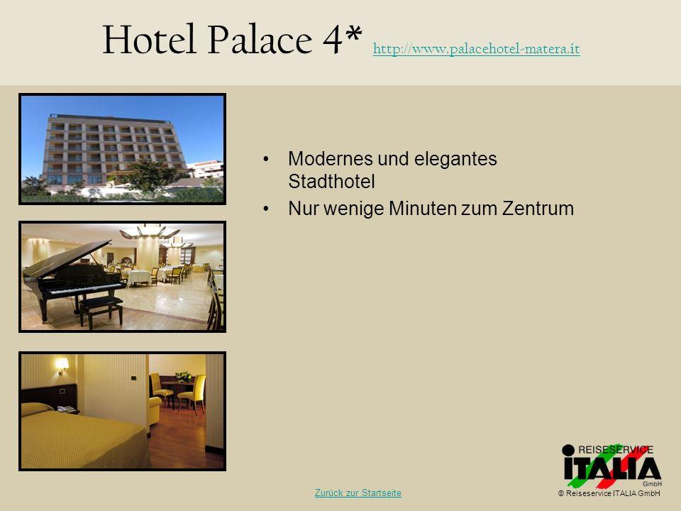 Hotel Palace 4* http://www.palacehotel-matera.it