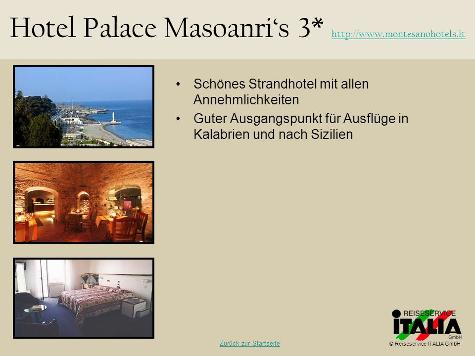 Hotel Palace Masoanri's 3* http://www.montesanohotels.it