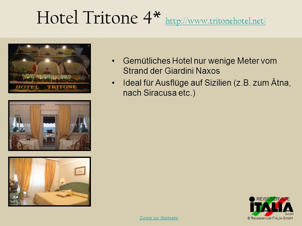 Hotel Tritone 4* http://www.tritonehotel.net/