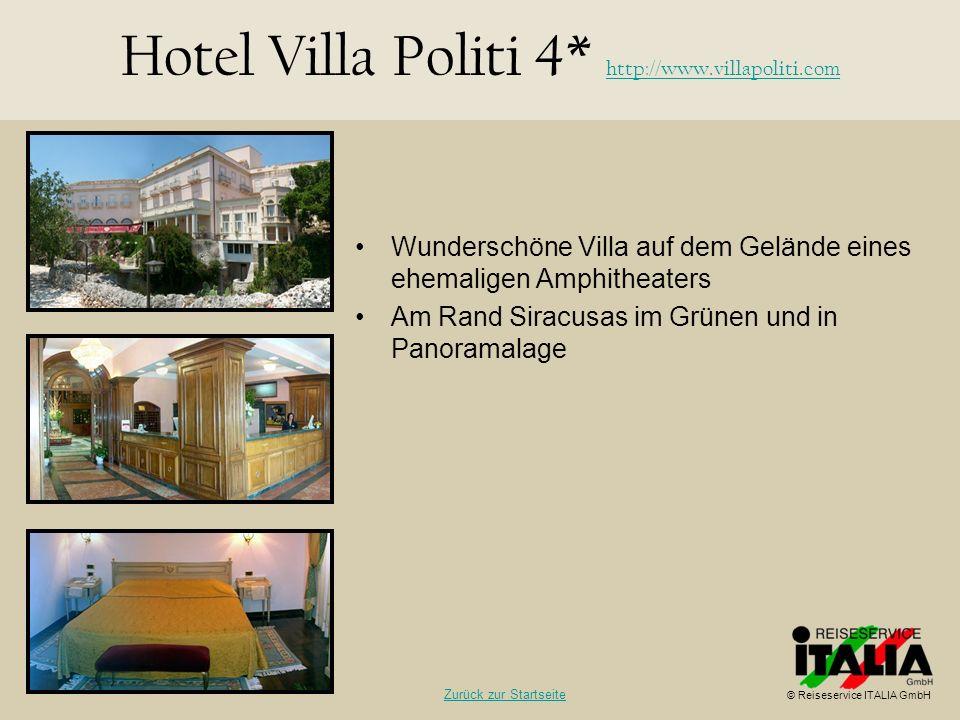 Hotel Villa Politi 4* http://www.villapoliti.com