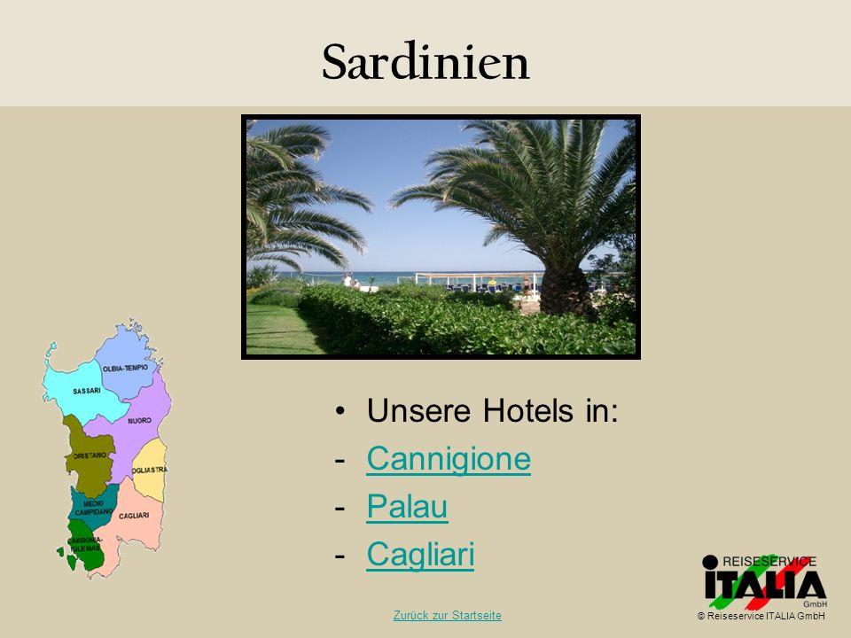 Sardinien Unsere Hotels in: Cannigione Palau Cagliari